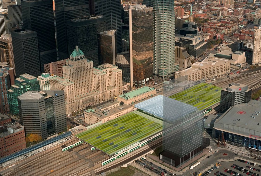 Aerial image of planned Union Station