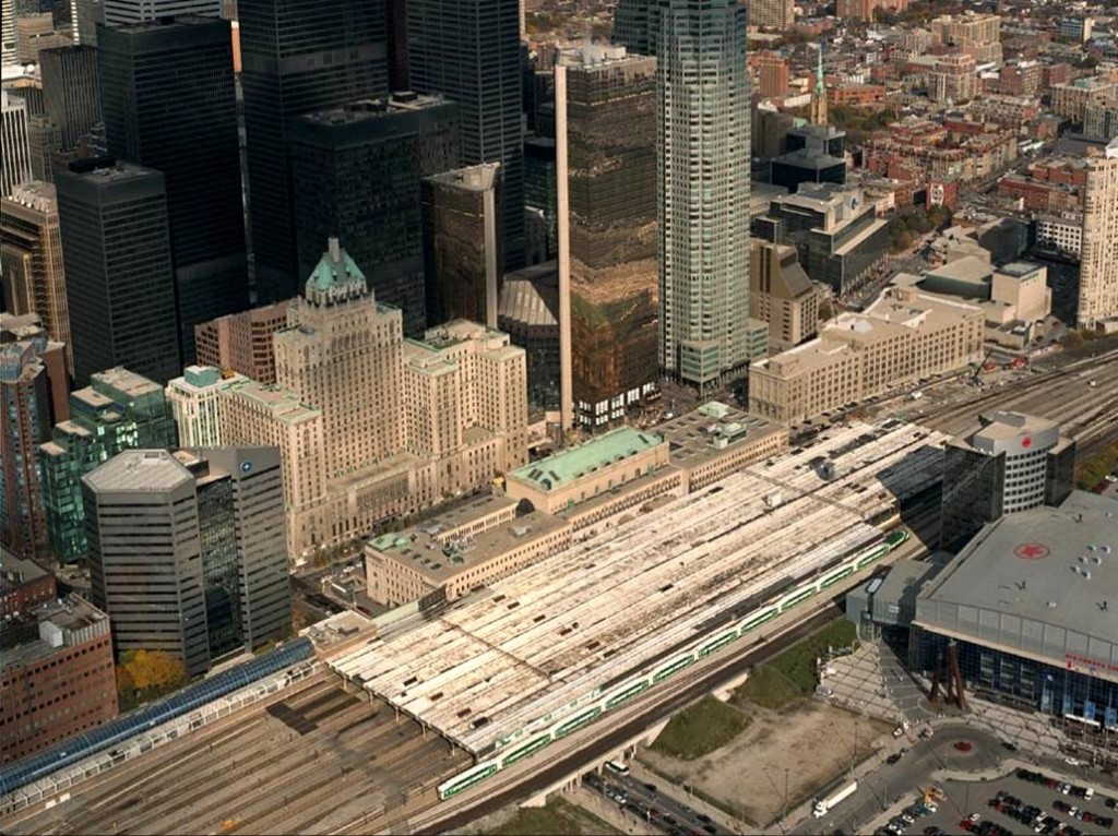 Aerial image of present-day Union Station