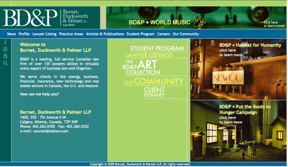 Burnet, Duckworth & Palmer LLP web site
