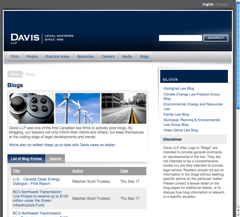 Davis_law_firm_blogs