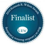 2010 Kenneth R Wilson Award Best in Canadian Business Publishing