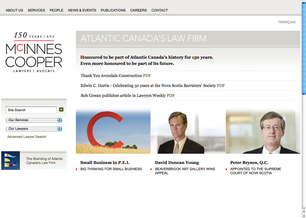 McInnes Cooper law firm web site
