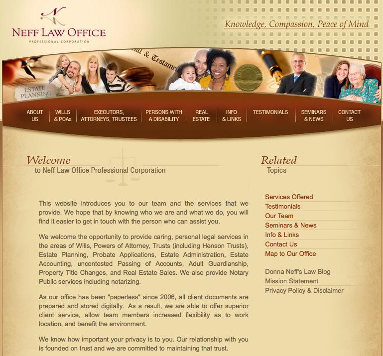 Neff Law Office web site