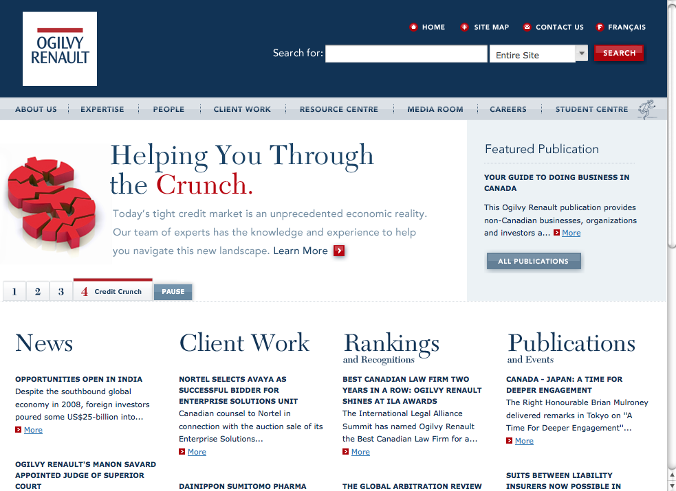 Ogilvy Renault law firm website