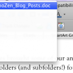Mac folder drop list, from document title bar
