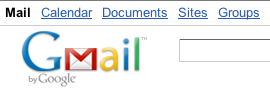 Documents link above GMail logo