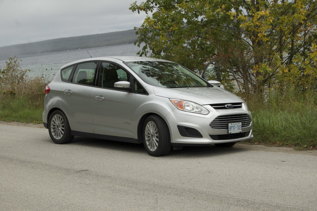 The Ford C-MAX by the water's edge, Bruce Peninsula.