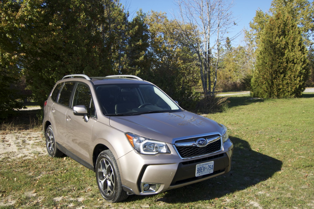 The 2014 Subaru Forester XT hanging out at Sandbanks Provincial Park, Prince Edward County, Ontario