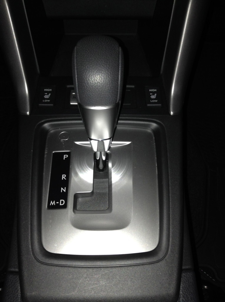 """Choose """"M"""" for manual paddle-shifting and """"R"""" for reverse."""