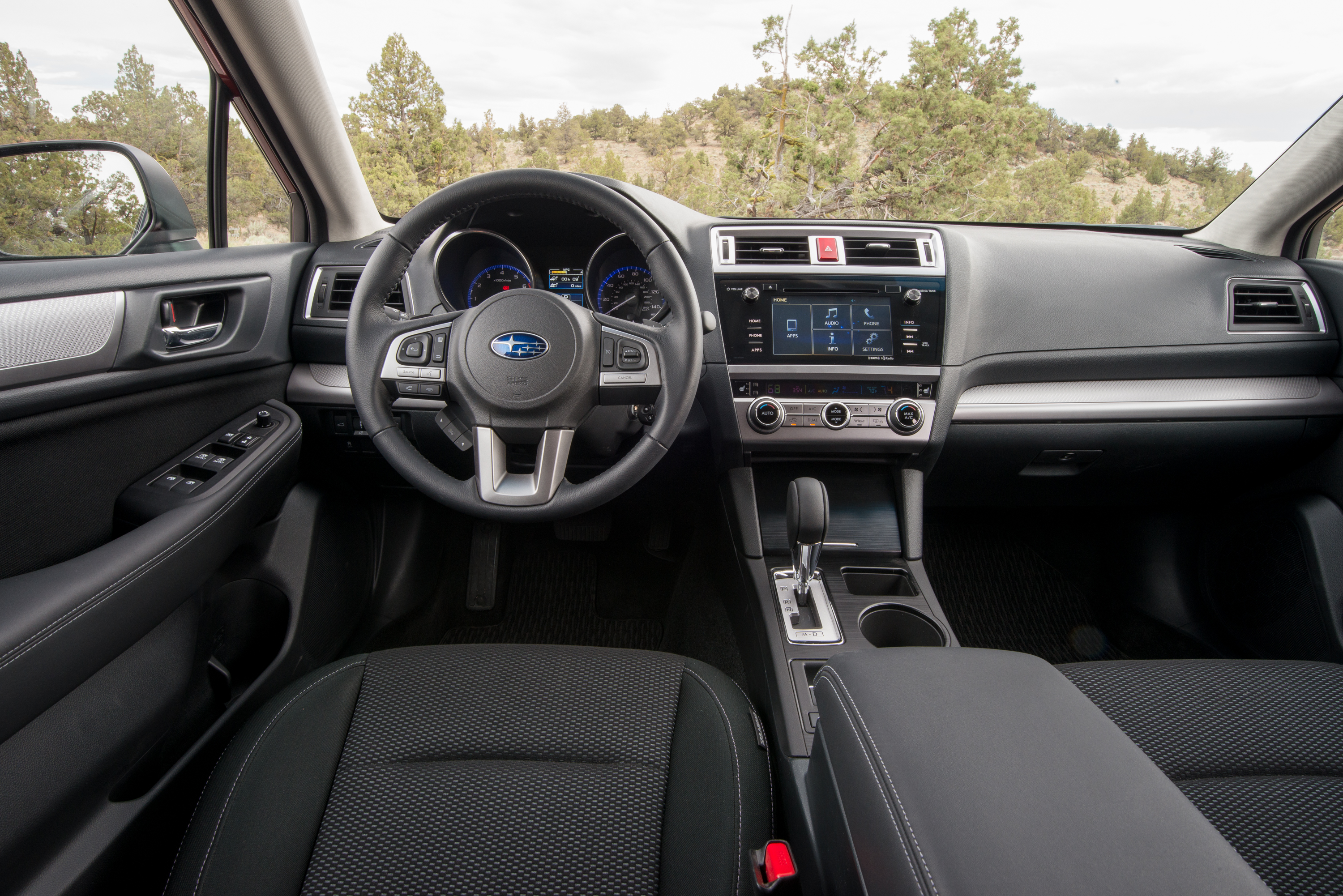 A simple, functional Subaru cabin. Photo: Subaru