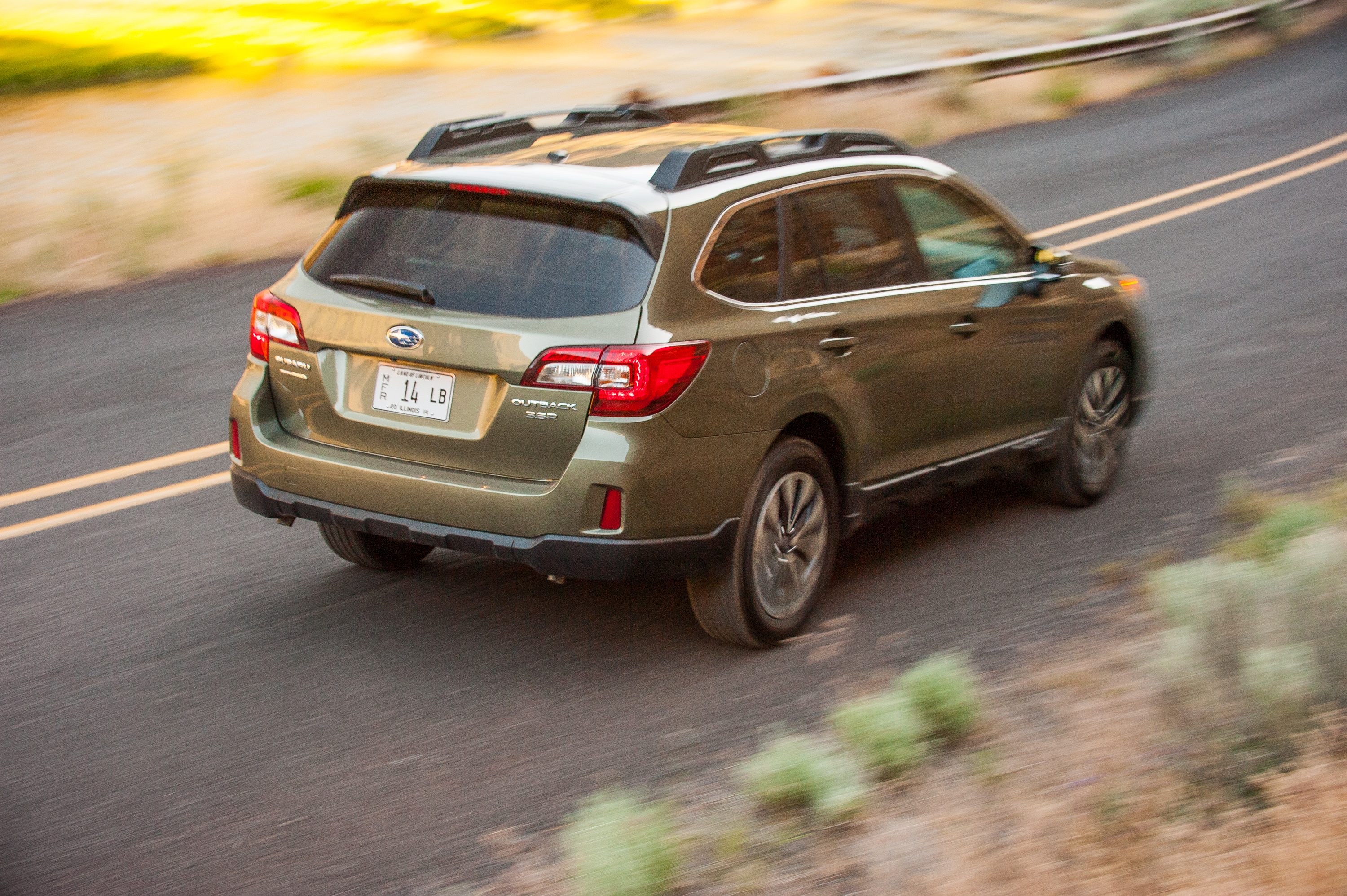 The Outback offers lots of visibility out the back. photo: Subaru