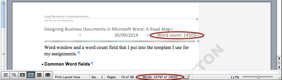 Premise Indicator Words: Putting Word Counts In Word Documents