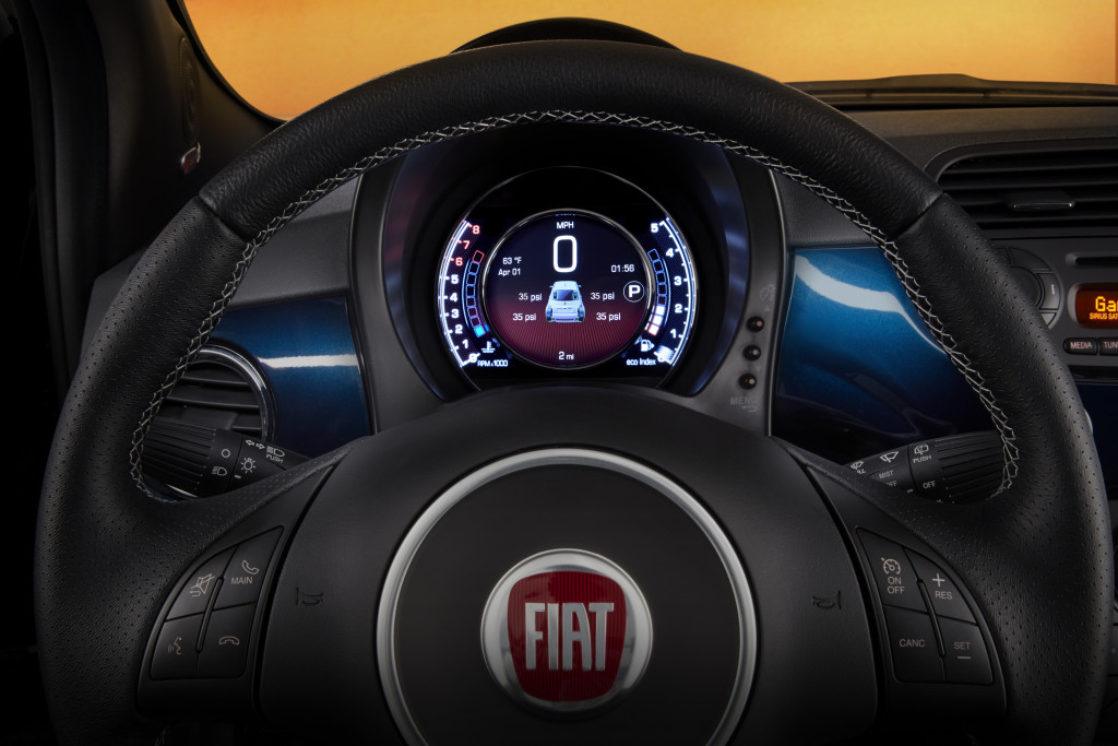 The 2015 Fiat 500 vehicle lineup will include a number of interi