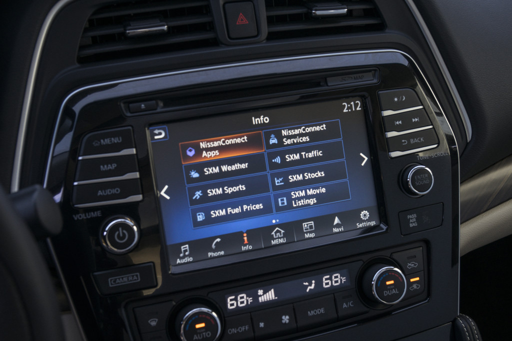 Some of the apps currently supported in the Maxima. photo courtesy Nissan Canada