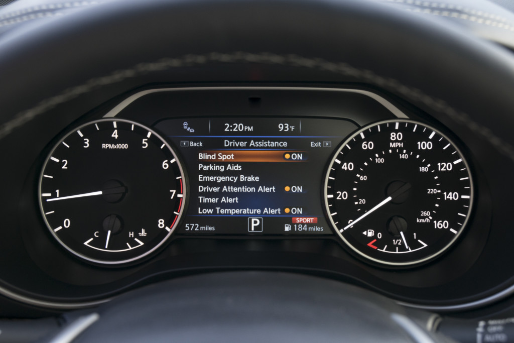 A small selection of driver settings. photo courtesy Nissan Canada