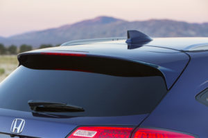 The de rigueur rear spoiler and shark-fin antenna. image courtesy Honda